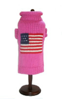 Pink Patriotic Pup Sweater