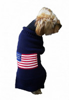 Navy Patriotic Pup Sweater