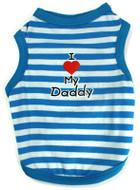 I Love My Daddy Striped Tank - Blue & White
