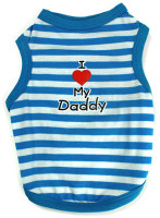 I Love My Daddy Striped Tank - Blue & White