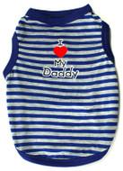 I Love My Daddy Striped Tank - Blue & Gray