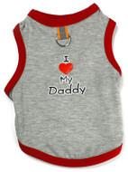 I Love My Daddy Tank - Gray/Red w/ D-Ring