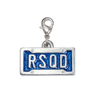License Plate Pet ID Tag - RSQD (Rescued)