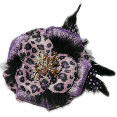 Julia Collar Flower - Purple