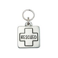 Rescued Square Pet ID Tag