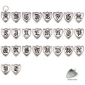 Rockin Doggie Sterling Silver Crest Initial Pet ID Tag