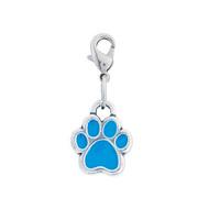 Rockin Doggie Blue Paw Dog Charm