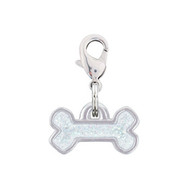 Rockin Doggie Sparkle White Bone Dog Charm