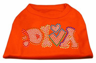 Technicolor Diva Rhinestone Pet Shirt