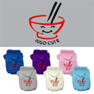 Miso Cute Screen Print Pet Hoodies
