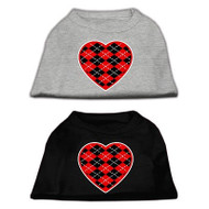 Red Argyle Heart Screen Printed Shirts