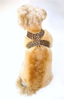 Brown Leopard Hollywood Quick Release Ultra Suede Harness