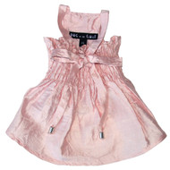 The Izabelle Light Pink Silk Dog Dress