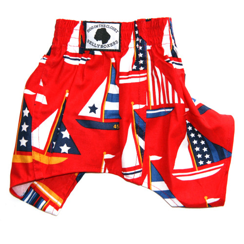 Belly Boxers for Dogs - Sailboats