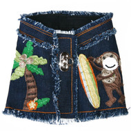 The Lahaina Collection Surfer Monkey Denim Harness Vest
