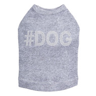 #DOG - Rhinestone - Dog Tank - Gray