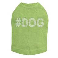 #DOG - Rhinestone - Dog Tank - Lime Green
