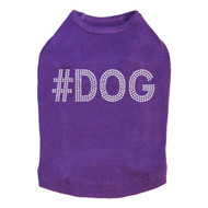 #DOG - Rhinestone - Dog Tank - Purple