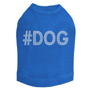 #DOG - Rhinestone - Dog Tank - Royal Blue
