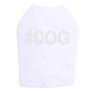 #DOG - Rhinestone - Dog Tank - White