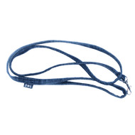 Denim Leash with Top Stitching