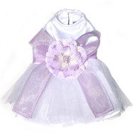 The Madeleine Harness Dog Dress with Lilac Sash