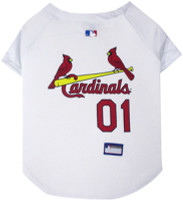St. Louis Cardinals Dog Jersey - White