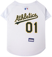 Oakland Athletics Dog Jersey - White