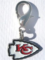 NFL Licensed Kansas City Chiefs Logo Collar Charm