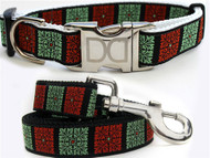 Savannah Squares Collection Linden and Sage Color - All Metal Buckles