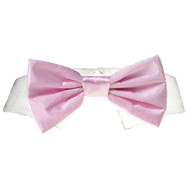Pooch Outfitters Pink Satin Bow Tie