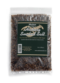 Hickory Smoked Maine Sea Salt (8 oz bag)