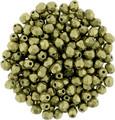 2mm Fire Polish, Metallic Golden Lime (Qty: 50)