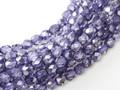 4mm Firepolish - Violet Metallic Ice