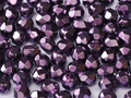 4mm Firepolish - Heavy Metal Dark Magenta (50)