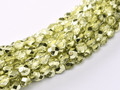 3mm Firepolish - Lime Metallic Ice (50)