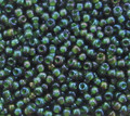 11-338B, Olivine Emerald-Lined (Miyuki)