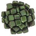 2-Hole CzechMates Tile Beads - 6mm - Olive Mauve (25)