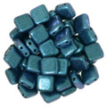 2-Hole CzechMates Tile Beads - 6mm - Indigo Orchid (25)