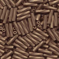 2.7 x 12mm Miyuki Twisted Bugles - Matte Metallic Dark Bronze