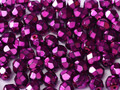 3mm Firepolish - Heavy Metal Fuchsia