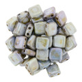 2-Hole CzechMates Tile Beads, Opaque Green Luster