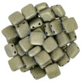 2-Hole CzechMates Tile Beads, Gold Metallic Suede