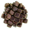 2-Hole CzechMates Tile Beads, Copper Rose (Qty: 25)