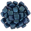 2-Hole CzechMates Tile Beads - 6mm - Orchid Aqua (25)