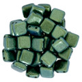 2-Hole CzechMates Tile Beads - 6mm - Aqua Teal (25)