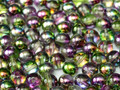 4mm Glass Round Beads (Druks) - Magic Orchid (50)