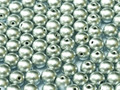 4mm Glass Round Beads (Druks) - Aluminum Silver (50)