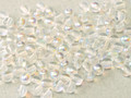 4mm Round Glass Beads, Crystal AB (Qty: 50)