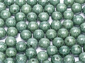 4mm Glass Round Beads (Druks), Teal Luster
